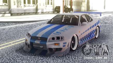 Nissan Skyline R34 FnF Sport para GTA San Andreas