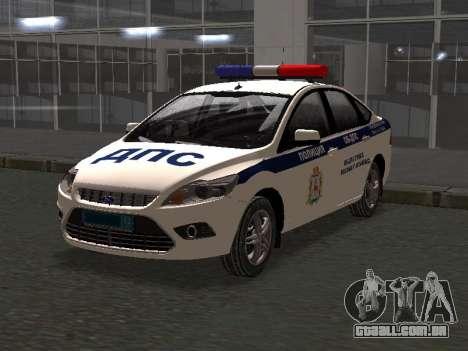 Ford Focus ОБ ГИБДД Edição de Inverno para GTA San Andreas
