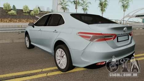 Toyota Camry 2019 LE para GTA San Andreas