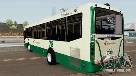 Todobus Pompeya II Agrale MT15 Linea 78 Interno para GTA San Andreas