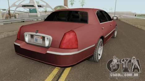 Lincoln Town Car (SA Style) 2011 para GTA San Andreas