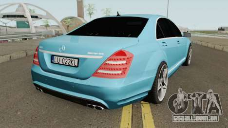 Mercedes-Benz W221 With Polish License Plates para GTA San Andreas