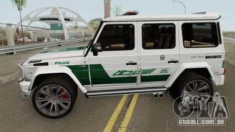 Mercedes-Benz G700 Brabus Widestar Dubai Police para GTA San Andreas
