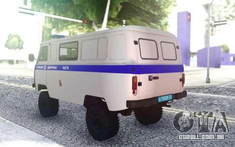 UAZ Buhanka - Dever de Parte para GTA San Andreas