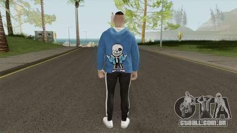 GTA Online Sans Outfit Skin para GTA San Andreas