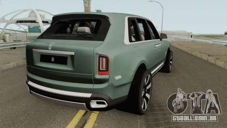 Rolls Royce Cullinan 2019 para GTA San Andreas