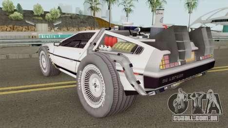 Delorean DMC-12 Time Machine BTTF 2 para GTA San Andreas
