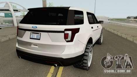 Ford Explorer 2018 para GTA San Andreas