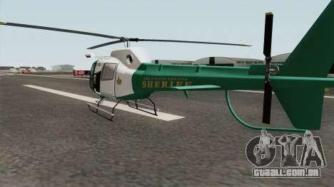 Los Santos County Sheriff Helicopter para GTA San Andreas