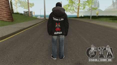 Admin Skin Textured para GTA San Andreas