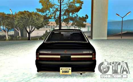 Ubermacht Sentinel XL SA Style para GTA San Andreas