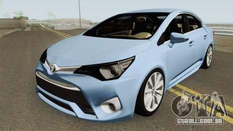 Toyota Avensis 2016 para GTA San Andreas