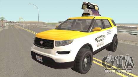 Vapid Scout Taxi GTA V para GTA San Andreas