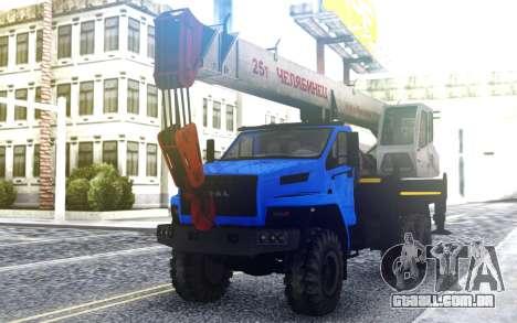 Ural Ao Lado Do Guindaste para GTA San Andreas
