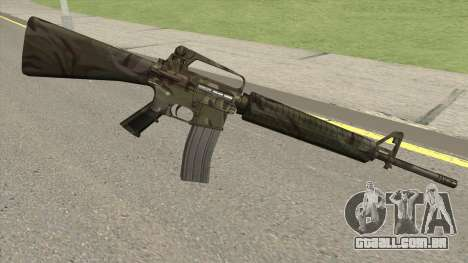 M16A2 Full Jungle Camo (Ext Mag) para GTA San Andreas