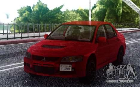 2006 Mitsubishi Lancer Evolution IX MR para GTA San Andreas