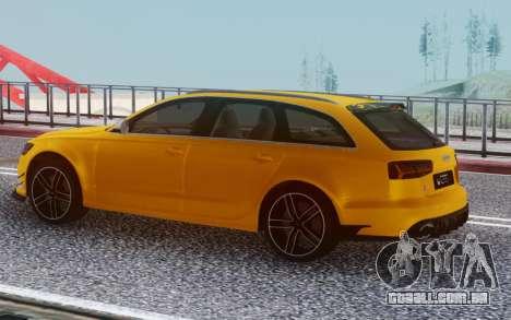 Audi RS6 Welow para GTA San Andreas