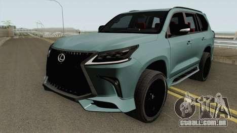 Lexus LX570 Black Edtion 2019 para GTA San Andreas