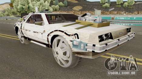 DeLorean DMC-12 Time Machine Cave para GTA San Andreas