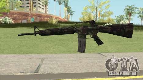 M16A2 Full Forest Camo (Ext Mag) para GTA San Andreas