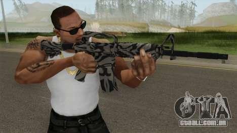 CS:GO M4A1 (Zebra Dark Skin) para GTA San Andreas