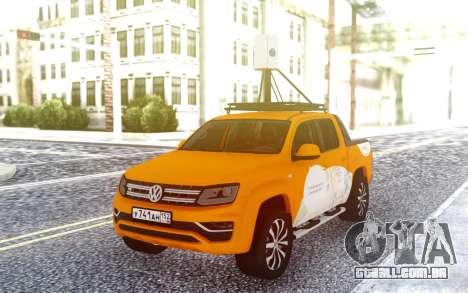 Volkswagen Amarok V6 Yandex.Cartão para GTA San Andreas