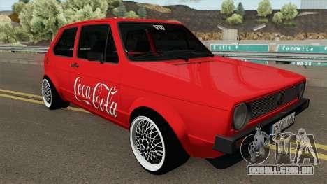 Volkswagen Golf C - Coca Cola Edition 1983 para GTA San Andreas