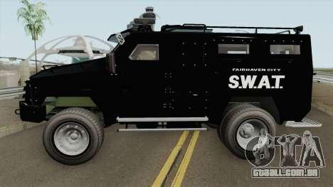 NFS MW 2012 SWAT Van IVF para GTA San Andreas