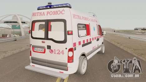Renault Master Hitna Pomoc Ambulance Sarajevo para GTA San Andreas