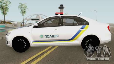 Skoda Rapid (Police Of Ukraine) para GTA San Andreas
