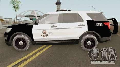Ford Explorer Police Interceptor LAPD 2017 para GTA San Andreas