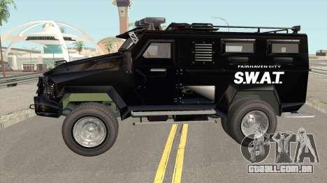 NFS MW 2012 SWAT Van para GTA San Andreas