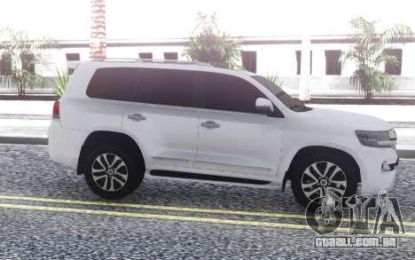 Toyota Land Cruiser 200 Sport 2018 para GTA San Andreas