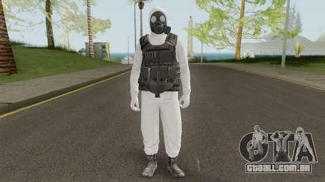 HazMat Skin White para GTA San Andreas