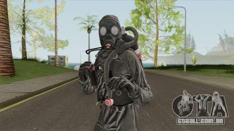 HazMat Skin Black para GTA San Andreas