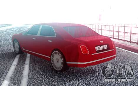 Bentley Mulsane para GTA San Andreas