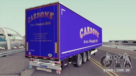 Carbone Trailer para GTA San Andreas