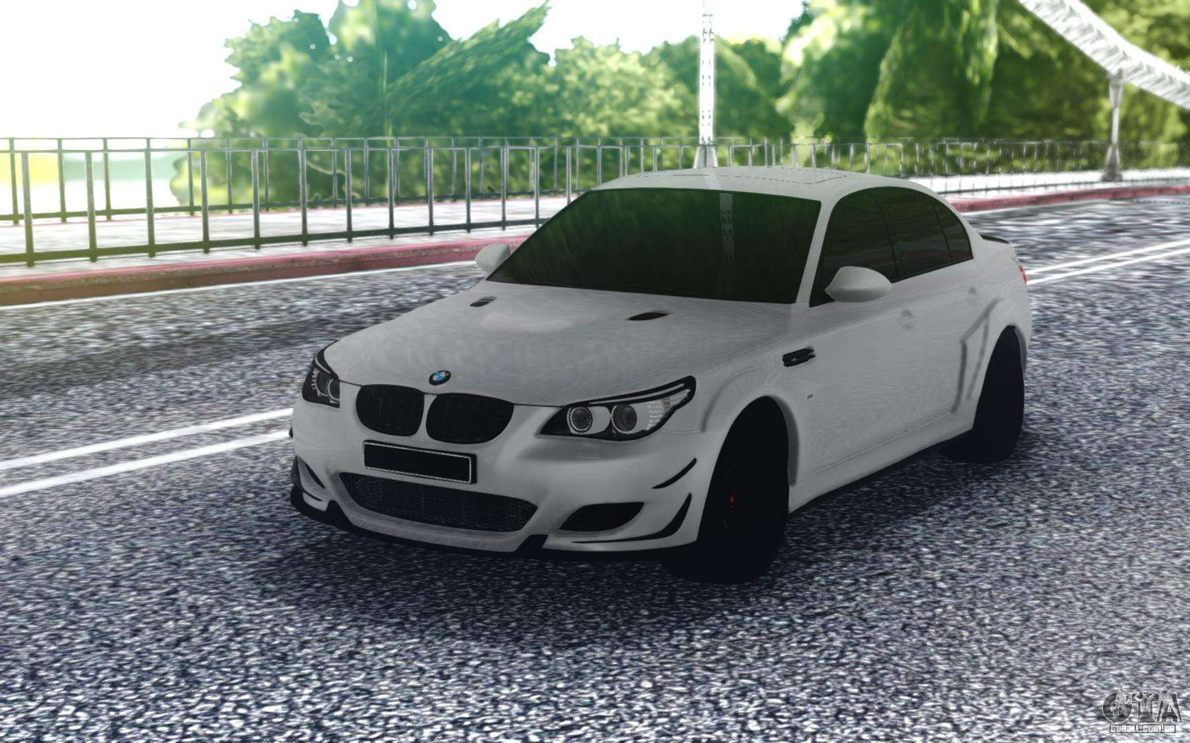 Bmw M5 E60 White Sedan Para Gta San Andreas