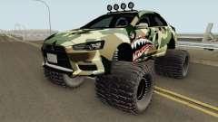 Mitsubishi Evolution X Off Road Camo Shark para GTA San Andreas