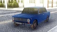 VAZ 2101 Sedan Azul para GTA San Andreas
