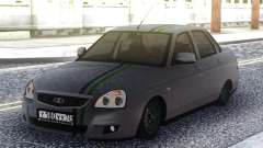 Lada Priora Grey Sedan para GTA San Andreas