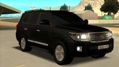 Toyota Land Cruiser 200 2013 Black para GTA San Andreas