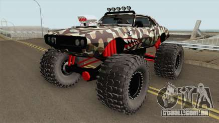 Pontiac Firebird Monster Truck Camo Shark 1968 para GTA San Andreas