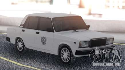 VAZ 2107 Branco Táxi para GTA San Andreas