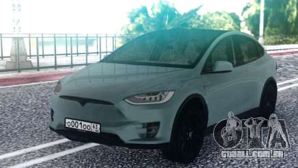 Tesla Model X Grey para GTA San Andreas