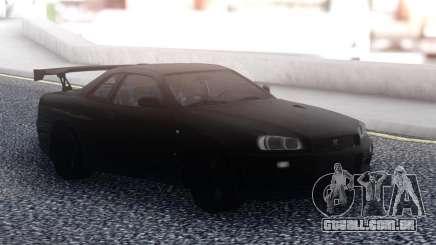 Nissan Skyline R34 GT-R Black para GTA San Andreas