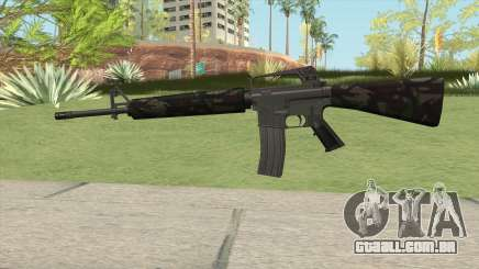 M16A2 Partial Forest Camo (Ext Mag) para GTA San Andreas