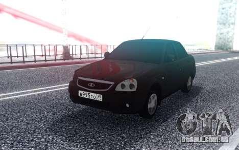 VAZ 2170 Sem Luzes para GTA San Andreas