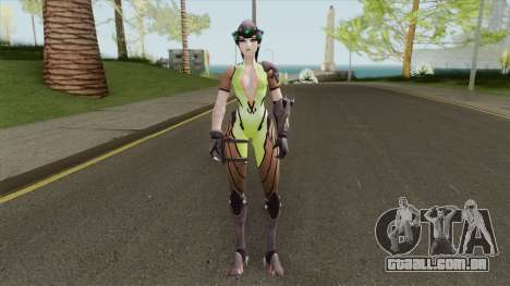 Widowmaker Green Battle Suit para GTA San Andreas