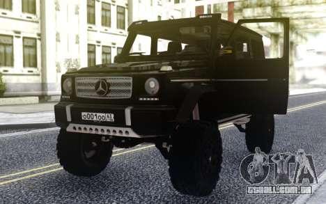 A Mercedes-Benz G500 4х4 Preto para GTA San Andreas